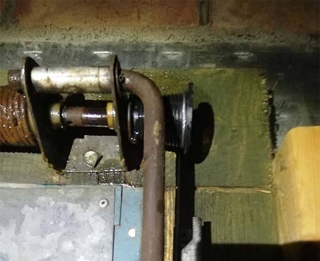 old garage door parts that need replacing