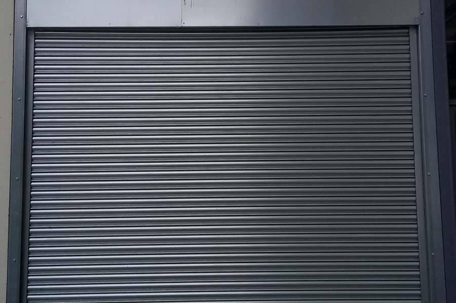 grey roller shutter door